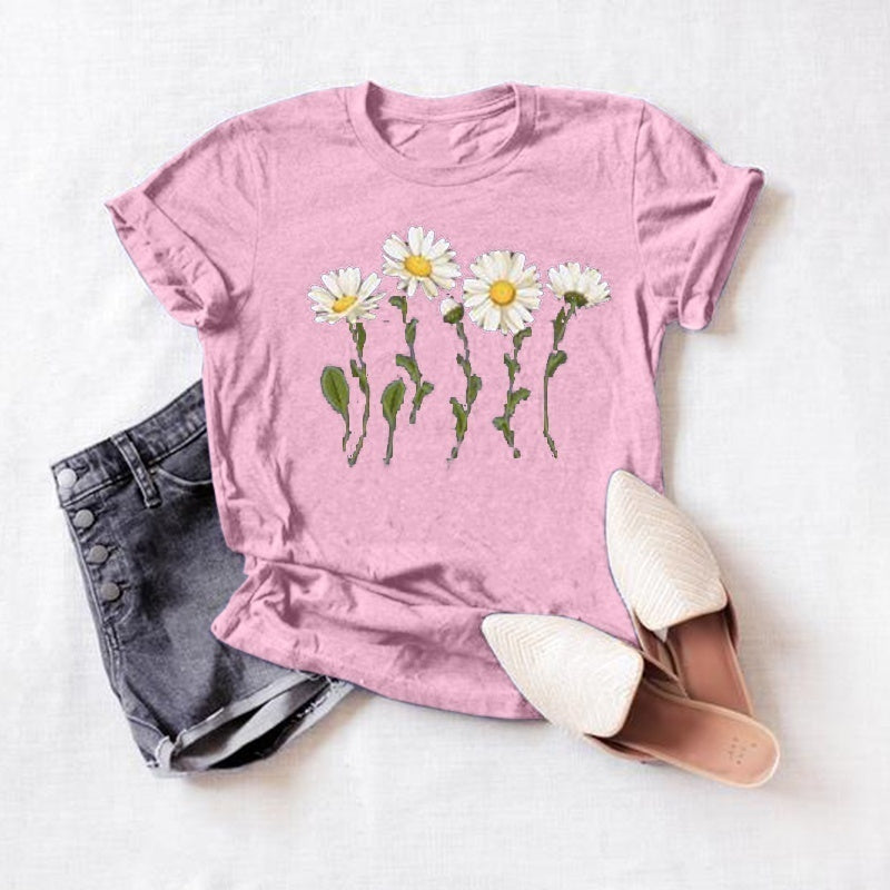 Simple Daisy Graphic Tee, Simple Floral Graphic Tee, Floral Graphic Tee, Floral Shirt, Summer Shirt, Spring Shirt, Trendy Floral Tee