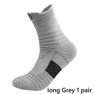 1/3 Pair Men Sports Socks High Quality Elite Basketball Thick Towel Bottom Breathable Sweat Outdoor Sports Running Socks