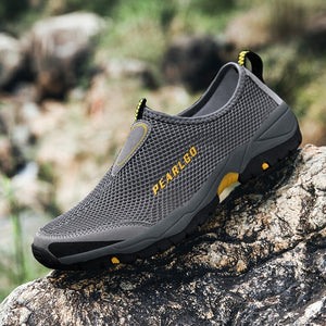 New Men's Mesh Breathable Outdoor Climbing Hiking Shoes Traveling Men Ankle Shoes