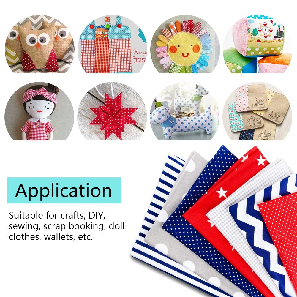 DIY Patchwork Fabric Cotton Printed Cloth Set Sewing Material