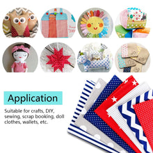 将图片加载到图库查看器,DIY Patchwork Fabric Cotton Printed Cloth Set Sewing Material