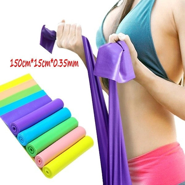 Yoga Tension Belt Resistance Band Training Pilates Fit Stretching Pull Ropes