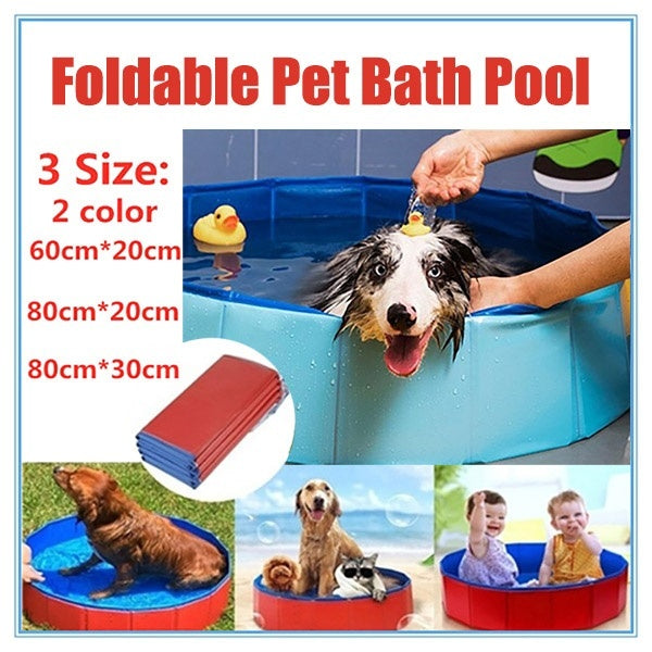 3 Size Foldable Pet Bath Pool Collapsible Dog Pool Pet Bathing Tub Pool for Dogs Cats