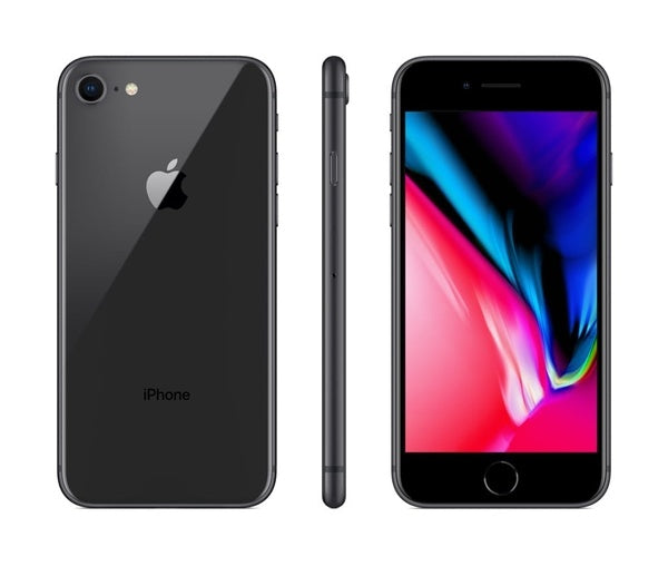 Apple iPhone 8 128GB Space Gray Refurbished Verizon T-Mobile AT&T Boost Mobile Cricket Wireless Metro GSM Unlocked Smartphone