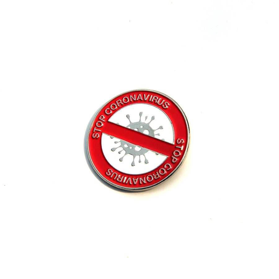 Stop Coronavirus COVID-19 Metal Enamel Pins and Brooches for Doctor Nurse Encourage Lapel Pin Backpack Bags Badge Gifts