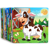 Early Childhood Education Puzzle Wooden Cartoon Anime Zodiac Animal Puzzle Building Blocks