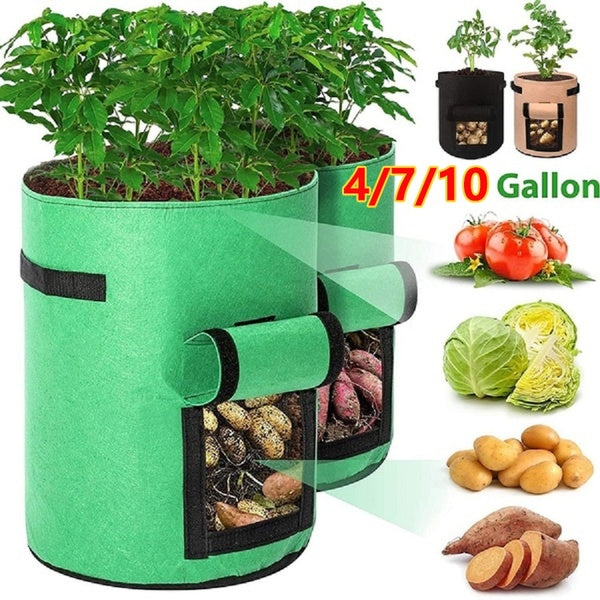 4/7/10 gallons Smart Plant Grow Bags for Potato/Plant Container/ Flowers Pots