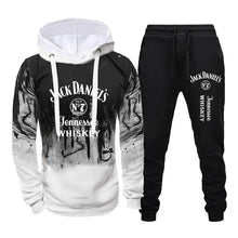 将图片加载到图库查看器,Jack Daniel's Printed Tracksuits For Men Fashion Casual Hoodie + Pant 2 Piece Set Spring Autumn Jogging Suits