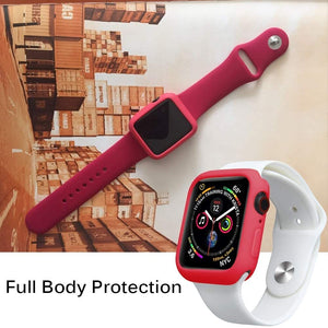 Candy TPU case for Apple watch series 5 4 3 2 1 screen protector bumper cover for iWatch 38 42 40 44mm fit Ultra-thin band