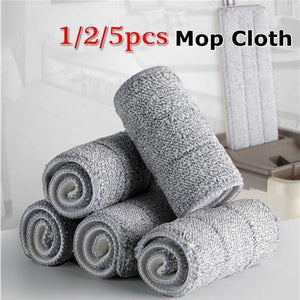 1/2/5Pcs Floor Mop Cloth Replace Rag Mop Self Wet and Cleaning Paste Mop Dry Cleaning Mop Floor Cloth Home Bathroom