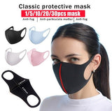 2020 New Ice Silk Cotton Hanging Ear Masks Washable Face Masks Breathable Thick Sunscreen Dust Mask