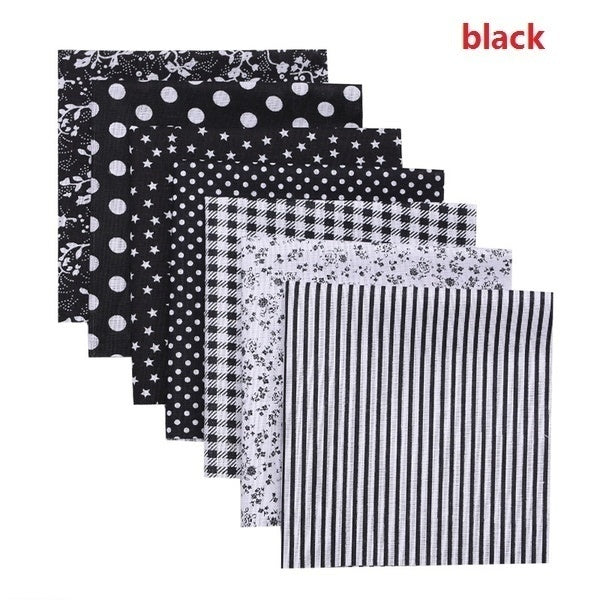 7/100 PCS Home DIY Fabrics Square Clothes Printed Cotton Fabric Cloth Sewing for Patchwork Needlework DIY Handmade Accessories