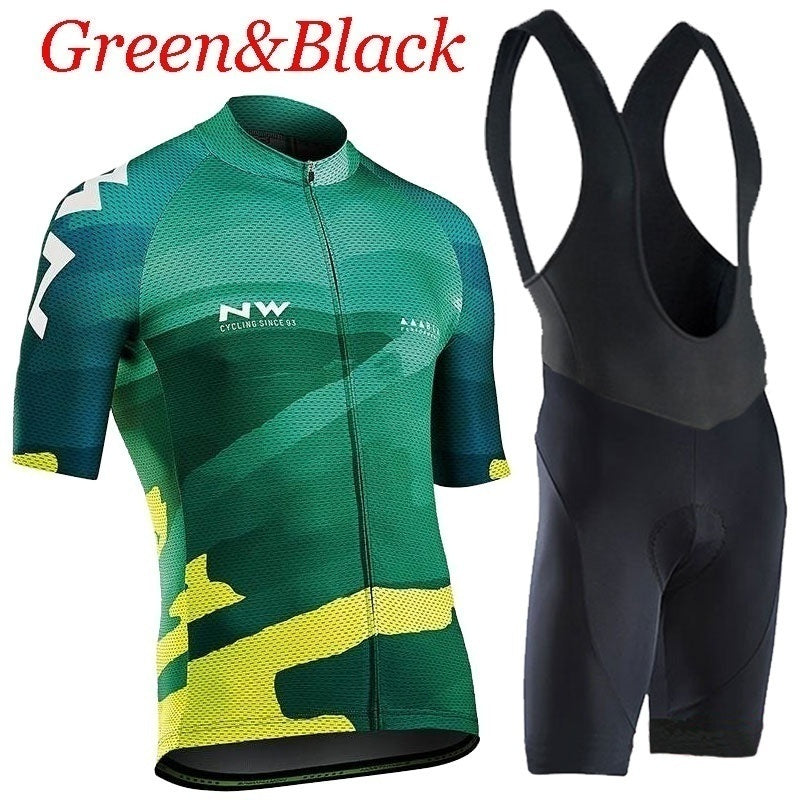 2020 NW Team Northwave Cycling Jerseys Bike Wear Clothes Quick-Dry Bib Gel Sets Clothing Ropa Ciclismo Uniformes Maillot Sport Wear