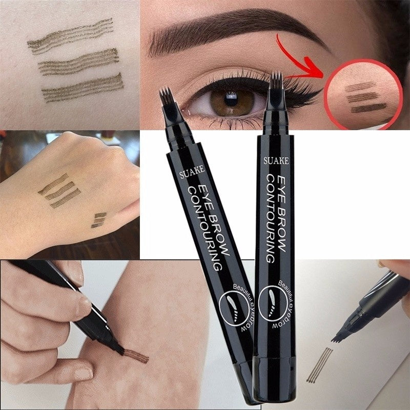 1Pcs Microblading Eyebrow Pencil Waterproof Eyebrow Tattoo Pen Long-lating Fine Sketch Fork Tip Professional Liquid Eyebrows Pen