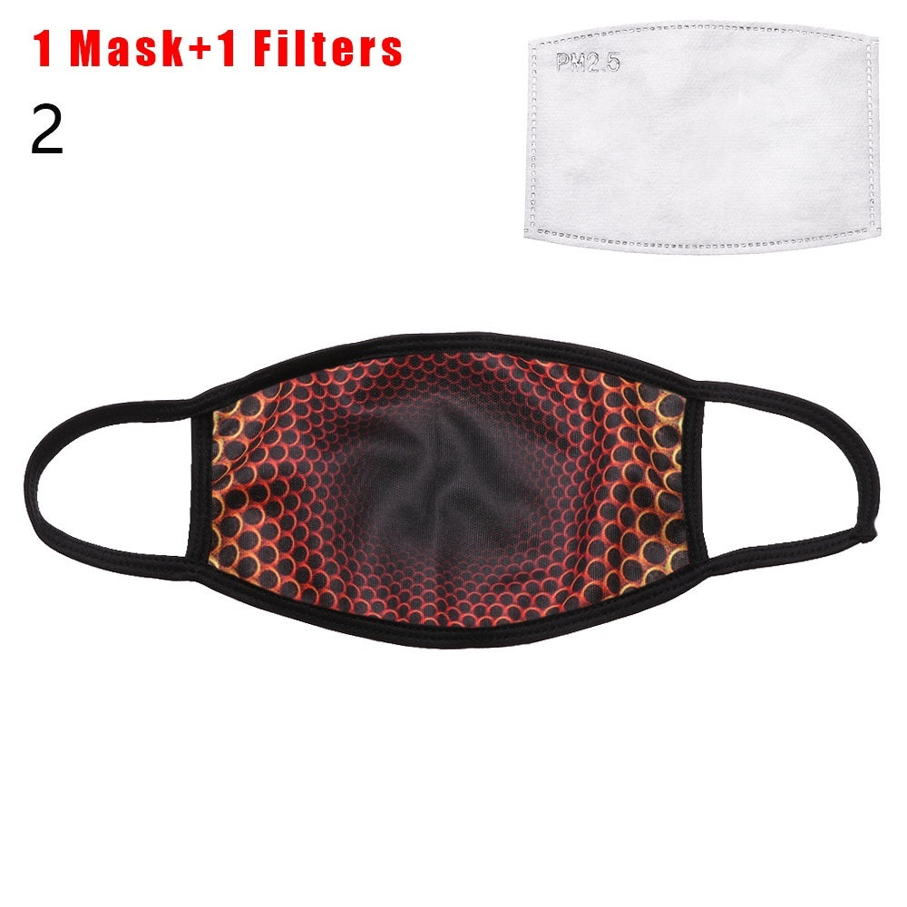 Men Women Health Care Skin-Friendly Anti Dust Breathable Face Mask Washable Reusable Cotton Mask Cycling Face Cover Face Shield