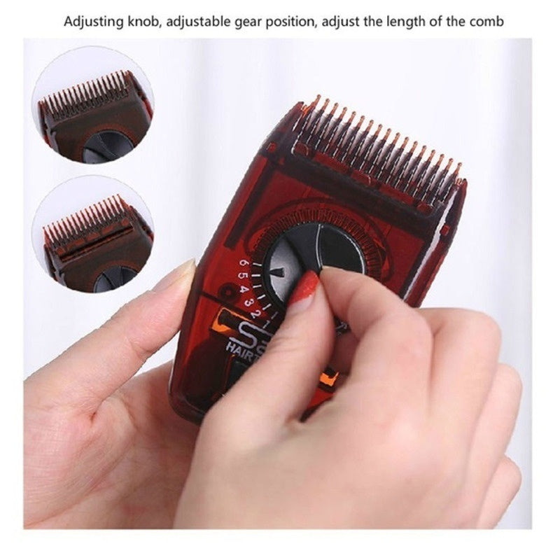 Multifunctional Manual Hair Trimmer Hairdressing Haircut Hair Comb Portable Mini Adjustable Comb