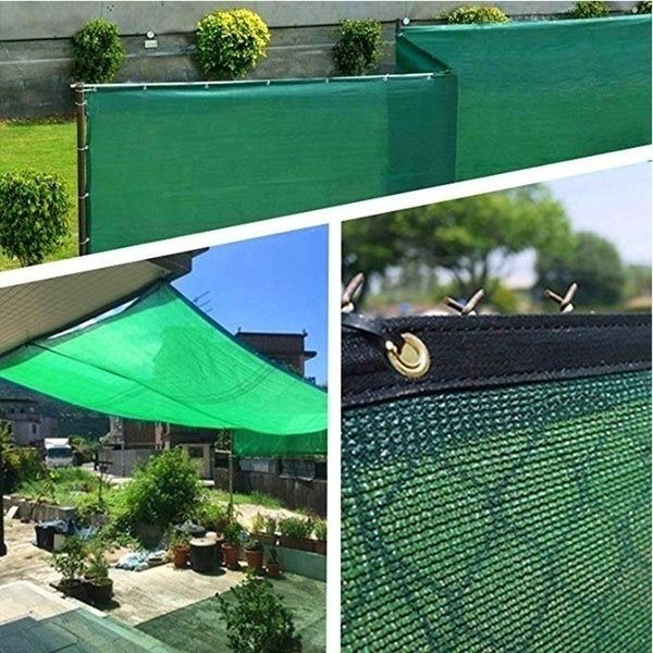 90% UV Block Garden Decor Outdoor Patio Sun Shade Cloth with Grommets, Garden Sun Shade Sails, Canopy Shelter Cover Sunshades for Yard