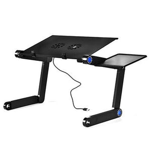 New Aluminum Alloy Adjustable Laptop Table Portable Folding Computer Desk Notebook Desktop Stand Computer Table For Sofa Bed