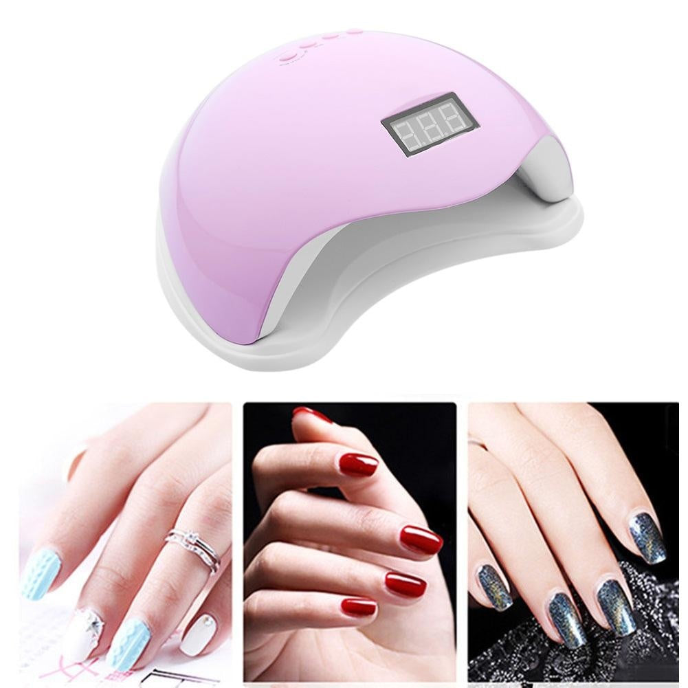 48/36/24/6W UV Nail Lamp Manicure LED Nail Dryer Drying Nail Polish Ice Lamp with 12 Pc