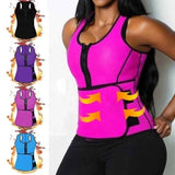 Women Neoprene Sauna Waist Trainer Vest Shaper Summer Workout Shaperwear Slimming Adjustable Sweat Belt Fajas Body Shaper