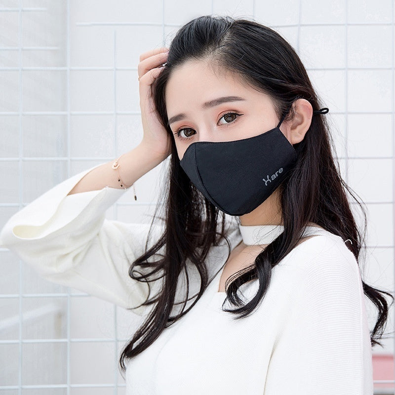 100% New Anti-fog Fashion Warm Mask Cotton Black Men and Women Dust Mask