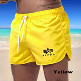 Men Summer Beach Shorts Mens Boxer Briefs Sports Casual Shorts Sailboatshort