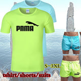 Men Quick Drying Suit Beach Shorts &T-shirt You Can Choose T-shirt or Shorts or Suit