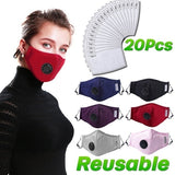 Reusable N95 PM2.5 Anti-dust Mask, Activated Carbon Filter Respirator, Face Mask Mouth Mask With Filters