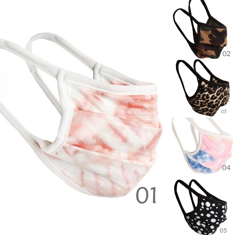 Printed Unisex Dust-Proof Cotton Face Masks Windproof Mask Half Face Mouth Muffle Personal Health Mask Anti-Dust Masks