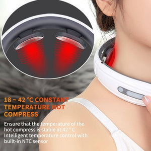 3D Smart Cervical Massager 9 Intensity 6 Modes Neck Massager Electric Pulse Back And Neck Massager Pain Relief Tool Healthcare Relaxation Multifunctional Massager