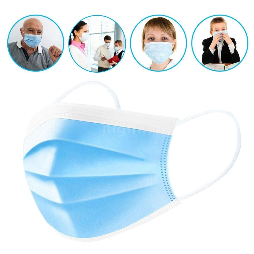100/50PCS Face Cover Disposable Stop PM2.5 Anti Particle Respirator Breathable Dustproof Mouth Cover