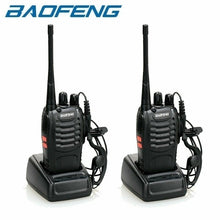将图片加载到图库查看器,1/2Pcs Baofeng BF-888S Walkie Talkie Radio Two Way Radio 400-470MHz Walkie Talkie Set Flashlight 16CH Portable Transceiver with Earpiece