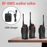 1/2Pcs Baofeng BF-888S Walkie Talkie Radio Two Way Radio 400-470MHz Walkie Talkie Set Flashlight 16CH Portable Transceiver with Earpiece
