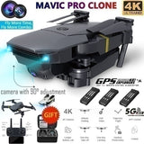 Mavic Pro Clone! Profesional 4K Camera Clone Dji Mavic Pro Folding Drone Wireless Wifi 360 Degree Roll FPV Selfie RC Drone Quadcopters RTF with Real Time Video