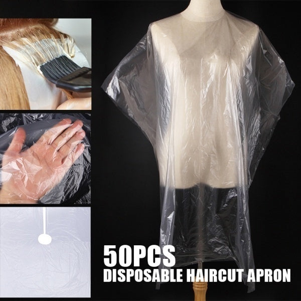 50PCS Disposable Waterproof Hairdressing Salon Capes Haircut Apron