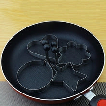 将图片加载到图库查看器,4PCS Home Cook Fried Egg Pancake Stainless Steel Heart Shaper Mould Mold Kitchen Tool