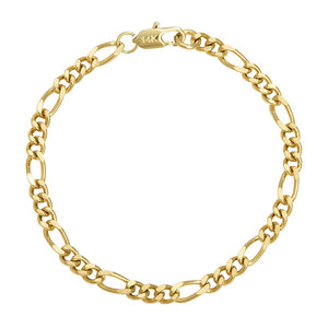 14K Solid Yellow Gold Bracelet Chain For Men Jewelry Women Jewelry 240mm 9.5' Stamped 14K