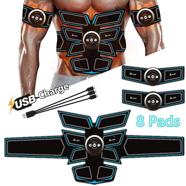 A-TION? 8 Pads USB Charge Muscle Toner,Muscle Training Gear Exercise Fat Burning Equipment For Men & Women