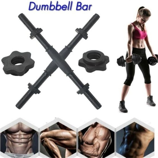 14'/18' Chrome Dumbbell Bar Solid Steel Weight Lifting Fitness Equipment Accessories Dumbbells Bar Fitness Equipment