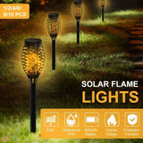 2020 Upgrade Solar Torch Light Outdoor Flickering Flame Dancing Lights Waterproof Landscape Night Light Garden Lamps for Yard Patio Pathway