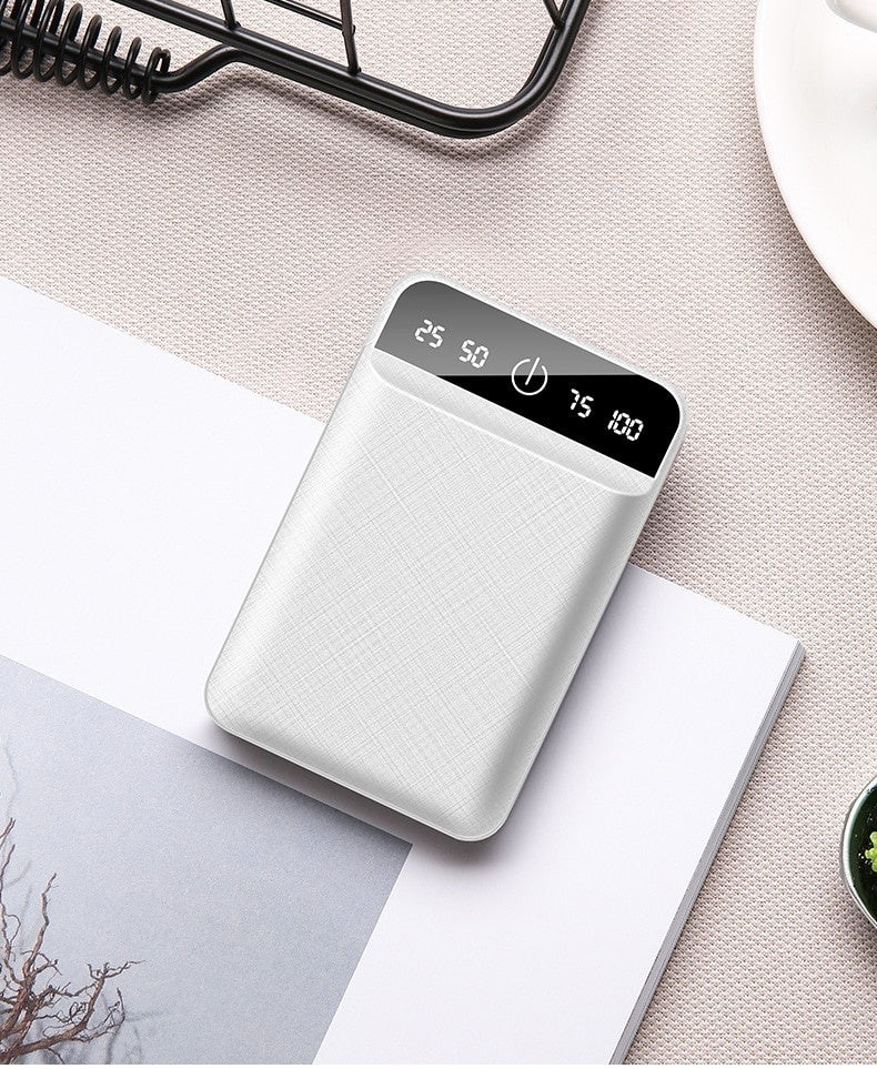 10,000,000mAh Power Bank Dual USB Output Portable Charger Powerbank Mini Charging Power Bank Travel External Mobile Battery Pack