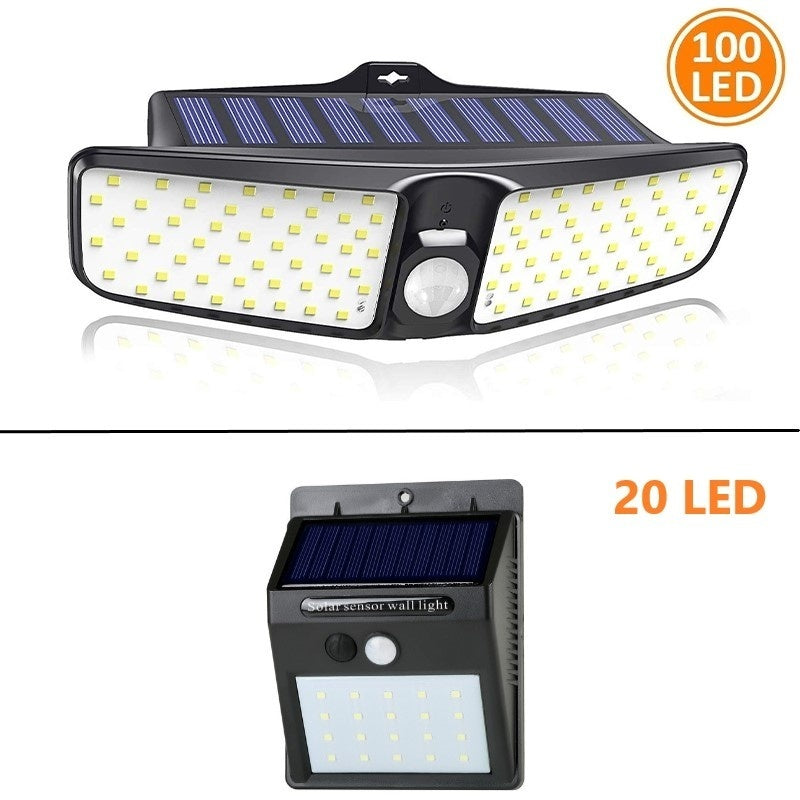 [Newest 100LED,Ultra Bright] Solar Wall Light Motion Sensor Lights Outdoor, 270¡ãWide Angle, IP65 Waterproof, Security Lights for Front Door, Yard, Garage, Deck, Fence