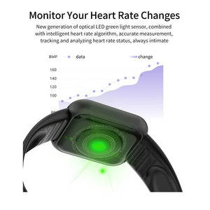 2020 New Men Smart Watch Heart Rate Blood Pressure Blood Oxygen Monitor IP67 Waterproof Fitness Tracker Wristband Bluetooth Wristwatch Smart Band Sport Smartwatch for IOS Android