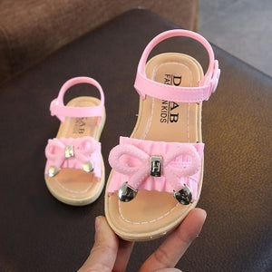 2020 Spring New Cute Girl Princess Shoes Soft Soles Shoes for Children Soft Bottom Non-slip Casual Sandals for Girls