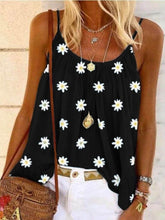 将图片加载到图库查看器,Women Summer Sling Sleeveless Tops Loose Floral Printed Vest T-shirt Tops Plus Size