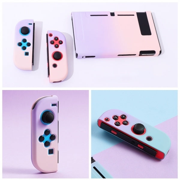 1 Set Drop-proof Back Cover Protective Case Shell For Nintendo Switch Console JoyCon