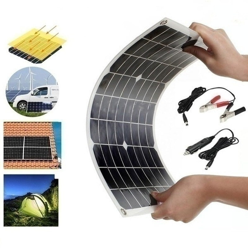 The Latest Hot Sales Waterproof and Snowproof Polysilicon 2000W 5V/12V Dual Output USB Solar Panel Flexible Monocrystalline Battery Charge with  Dual High Efficiency USB Solar Controller(Option) for Home/Outdoor Solar Power Kit