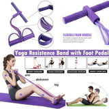 Elastic Foot Pedal Pull Rope Fitness Yoga Resistance Bands Pilates Sport Training Workout Equipment