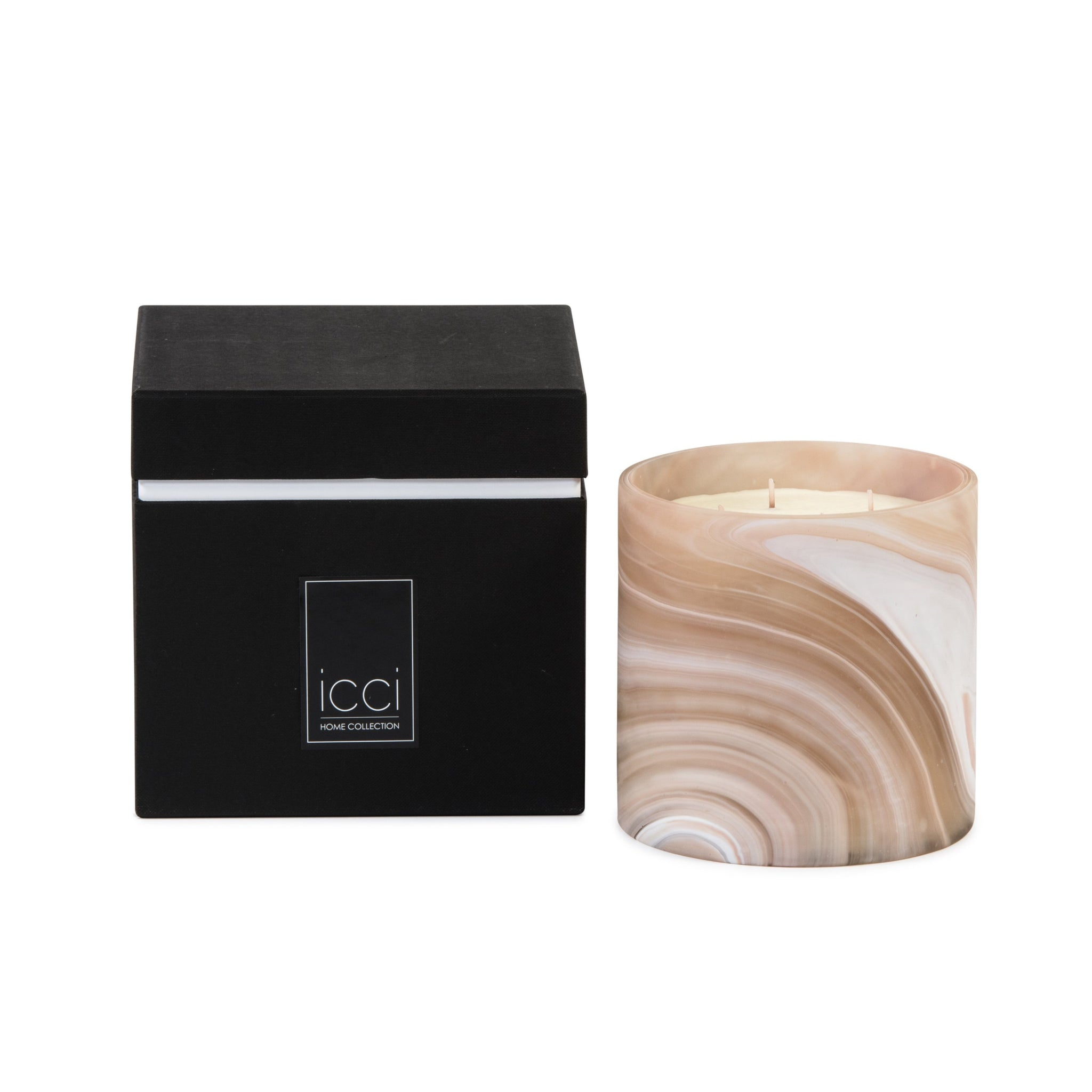 Dekocandle Jaspe Salmon | Large Scented Candle