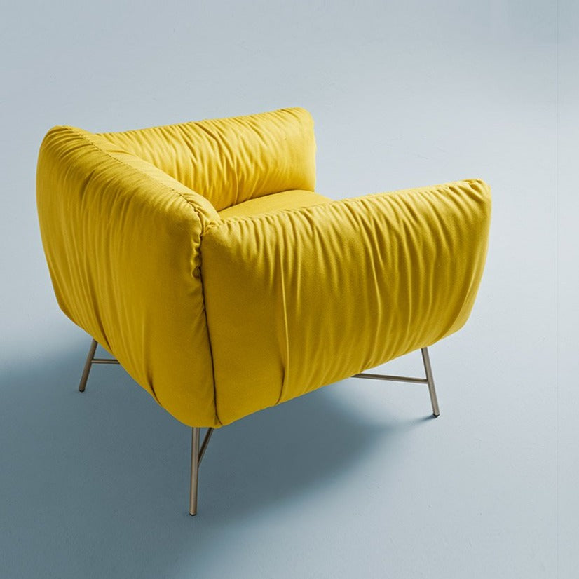Fabric: CAT X. 13195 Yellow. Legs : Champagne Lacquer.